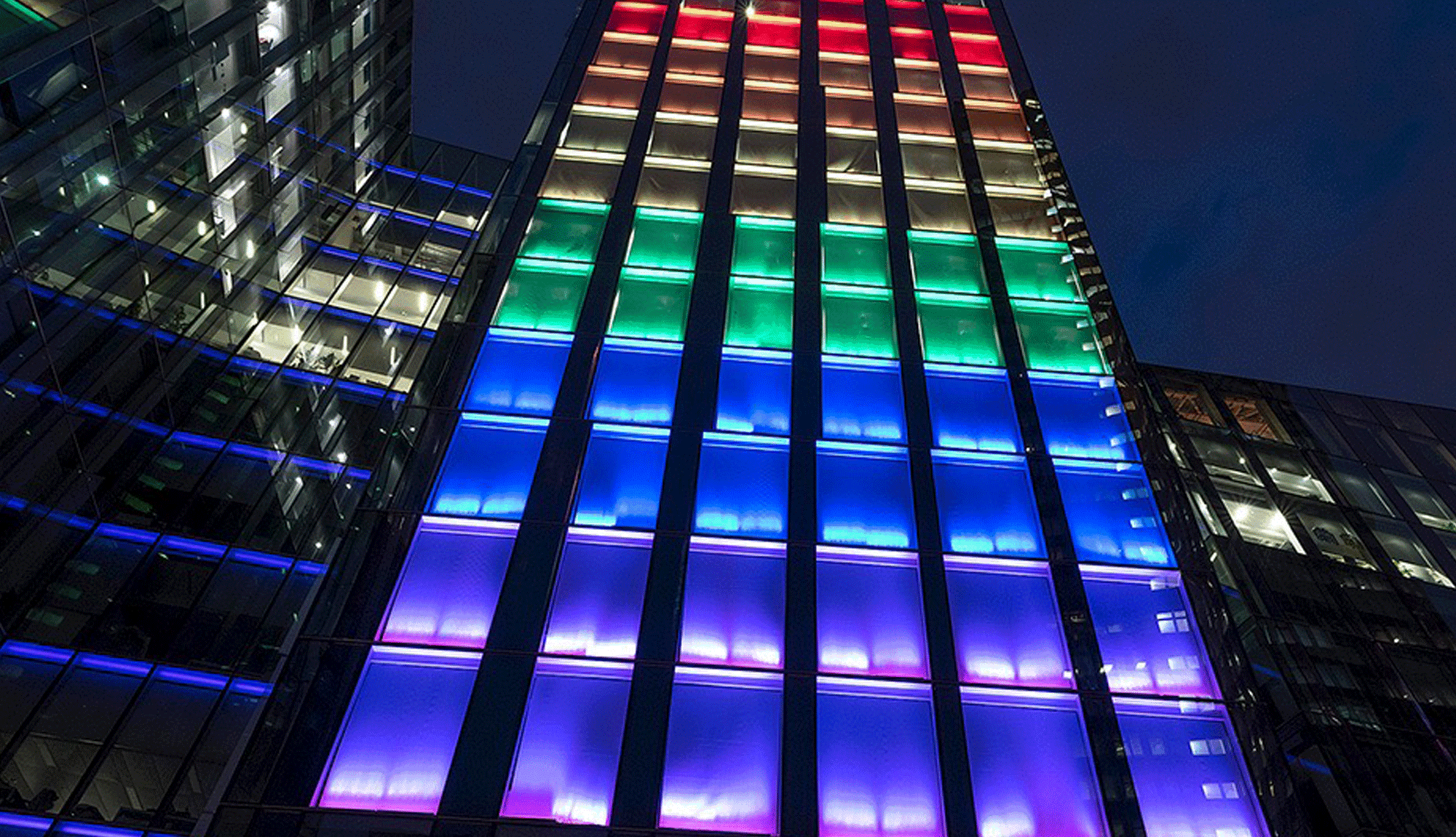 Pride Light Installation at Facebook Offices