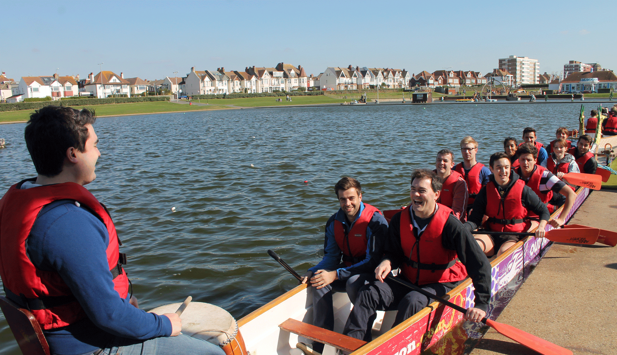 Water sports team building in Brighton